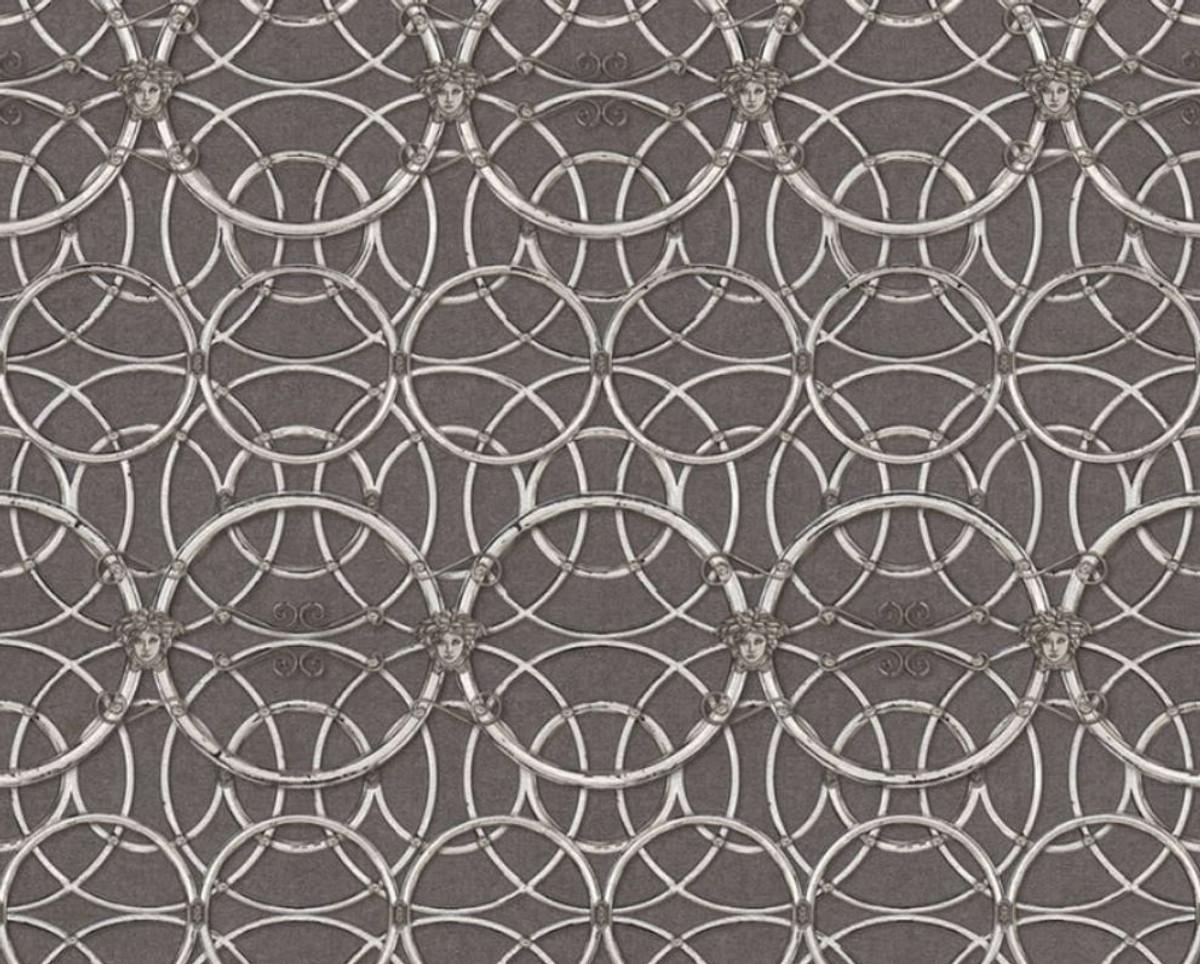 papier peint intisse baroque de createur versace iv 37049 5 gris argent blanc papier peint design haute qualite