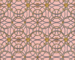 Versace Designer Baroque Non-Woven Wallpaper IV 37049-6 - Pink / Silver / Gold - Design Wallpaper - High Quality