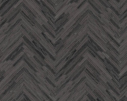 Versace Designer Baroque Non-Woven Wallpaper IV 37051-4 Gray / Black - Wallpaper with Wood Structure - High Quality