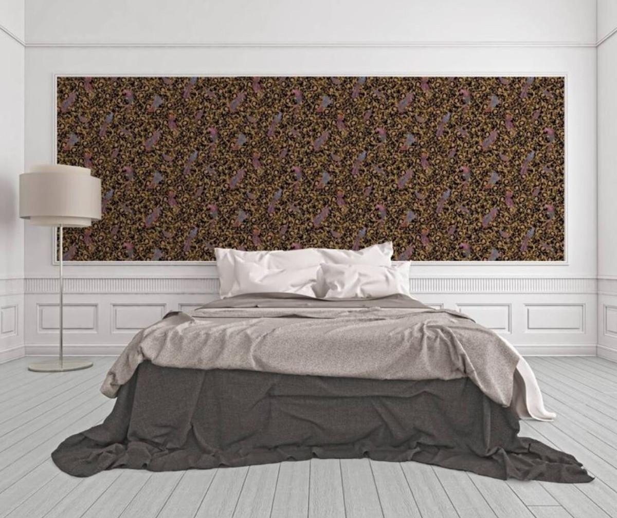Versace Designer Barock Vliestapete IV 37053-1 - Schwarz / Gold / Blau / Violett - Design Tapete - Hochwertige Qualität 2