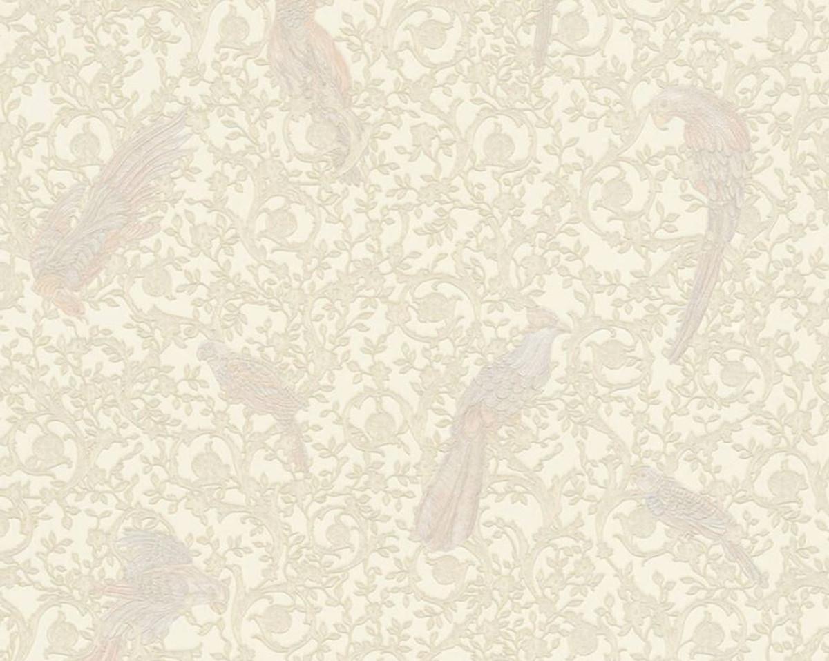 Carta Da Parati Tessuto carta da parati non tessuto barocco versace iv 37053-5 - crema / beige -  papier peint design - haute qualité