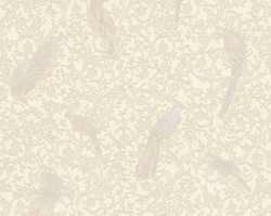 Versace Designer Baroque Non-Woven Wallpaper IV 37053-5 - Cream / Beige - Design Wallpaper - High Quality