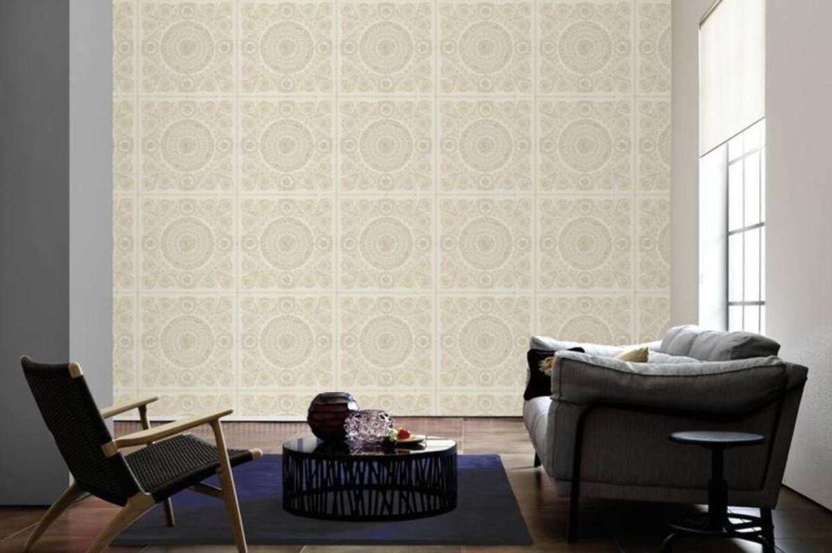Versace Designer Barock Vliestapete IV 37055-1 - Creme / Beige - Design Tapete - Hochwertige Qualität 2