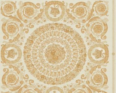 Versace Designer Barock Vliestapete IV 37055-2 - Weiß / Gold - Design Tapete - Hochwertige Qualität
