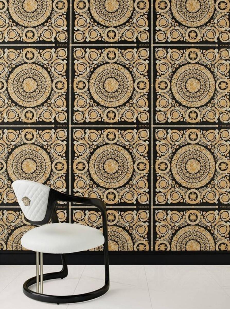 Versace Designer Barock Vliestapete IV 37055-3 - Schwarz / Gold - Design Tapete - Hochwertige Qualität 2