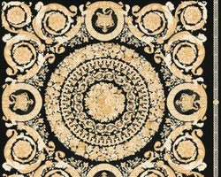Versace Designer Baroque Non-Woven Wallpaper IV 37055-3 - Black / Gold - Design Wallpaper - High Quality