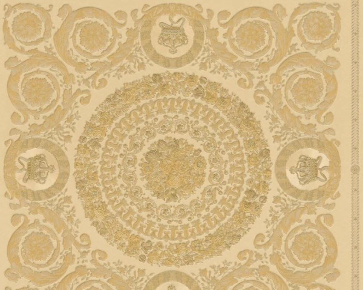 Versace Designer Barock Vliestapete IV 37055-4 - Beige / Gold - Design Tapete - Hochwertige Qualität 1