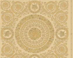 Versace Designer Baroque Non-Woven Wallpaper IV 37055-4 - Beige / Gold - Design Wallpaper - High Quality