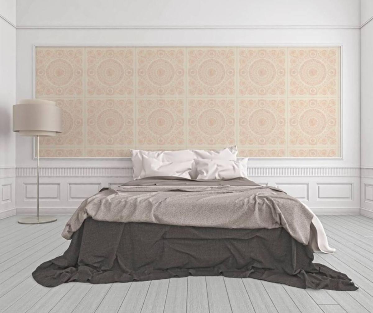 Versace Designer Barock Vliestapete IV 37055-6 - Creme / Rosa - Design Tapete - Hochwertige Qualität 2