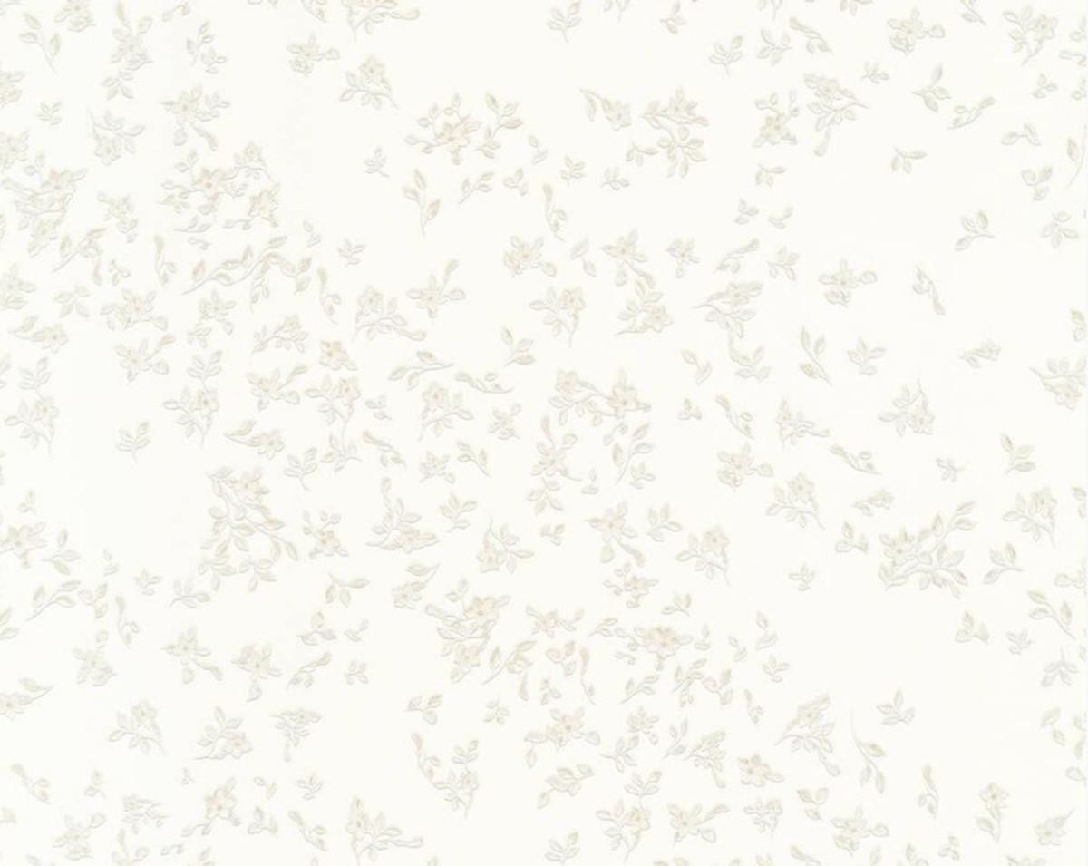 Versace Designer Barock Vliestapete IV 93582-2 - Weiß mit Blumenmuster - Design Tapete - Hochwertige Qualität 1