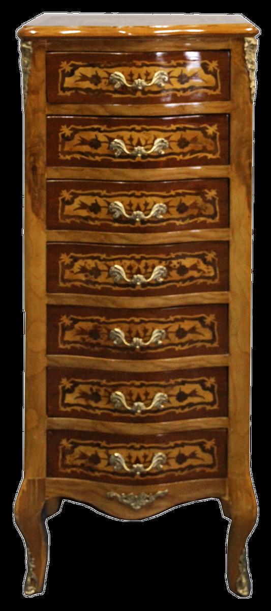 Casa Padrino Baroque Chest Of Drawers, Birds Eye Maple Furniture