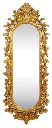 Casa Padrino Baroque Wall Mirror Gold 55 x H. 125 cm - Handmade Wardrobe Mirror - Noble & Magnificent