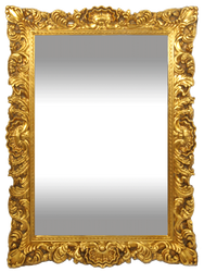 Casa Padrino Baroque Mirror Gold 83 x H. 115 cm - Handmade Wall Mirror with Beautiful Ornaments - Furniture in Baroque Style