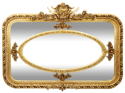 Casa Padrino Baroque Wall Mirror Gold 160 x H. 110 cm - Rectangular Handmade Mirror with Ornaments - Noble & Magnificent
