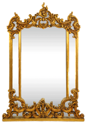 Casa Padrino Baroque Wall Mirror Gold 90 x H. 125 cm - Handmade Mirror with Ornate Decorations - Furniture in Baroque Style