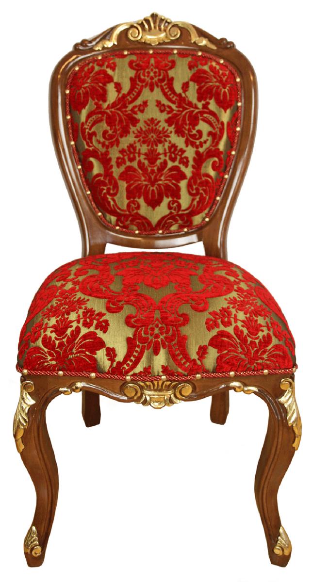 Casa Padrino Luxus Barock Esszimmer Stuhl Rot Gold Braun Antik Look 54 X 57 X H 107 Cm Luxus Hotel Mobel Made In Italy