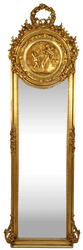 Casa Padrino Baroque Mirror Gold 55 x H. 175 cm - Solid and Heavy - Antique Style Wall Mirror