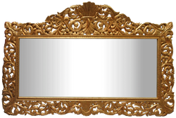 Casa Padrino Baroque Wall Mirror Gold 290 x H. 160 cm - Hand Carved Wardrobe Mirror - Baroque Furniture