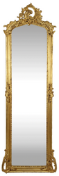 Casa Padrino Baroque Mirror Gold 55 x H. 175 cm - Antique Style Wall Mirror - Baroque Furniture