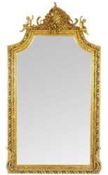 Casa Padrino Baroque Wall Mirror Mirror Gold 100 x H. 180 cm - Antique Style Mirror - Noble & Sumptuous - Furniture in Baroque Style
