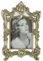 Casa Padrino Barock Bilderrahmen Antik Silber 21,4 x H. 31,2 cm - Prunkvoller Bilderrahmen im Barockstil