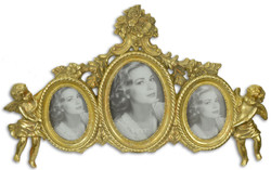 Casa Padrino baroque picture frame with decorative angel figures gold 38.1 x H. 23.4 cm - Noble & Sumptuous