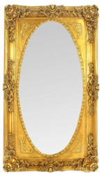 Casa Padrino Baroque Wall Mirror Mirror Gold 80 x H. 145 cm - Wardrobe Mirror - Sumptuous Baroque Mirror with Beautiful Decorations