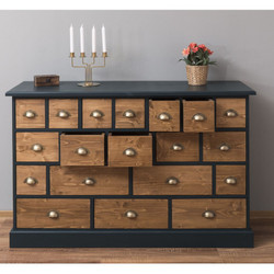 Casa Padrino country style chest of drawers with 19 drawers - office furniture in country style