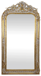 Casa Padrino baroque wall mirror gold / white 85 x H. 160 cm - Baroque Mirror with Beautiful Ornaments - Baroque Furniture