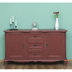 Casa Padrino Baroque chest of drawers in antique French style red - furniture antique style