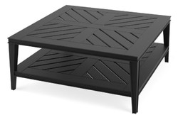 Casa Padrino luxury coffee table matte black 100 x 100 x H. 42 cm - Square Coffee Table Made of High Quality Durable Aluminum - Garden Table