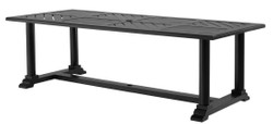 Casa Padrino luxury dining table matt black 240 x 103 x H. 75 cm - Rectangular Kitchen Table Made of High Quality Durable Aluminum - Garden Table