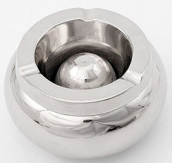 Casa Padrino designer ashtray silver Ø 12.5 x H. 6 cm - Round Aluminum Ashtray - Deco Accessories