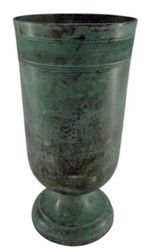 Casa Padrino flower vase mint green Ø 17 x H. 36 cm - Round Aluminum Vase - Deco Accessories