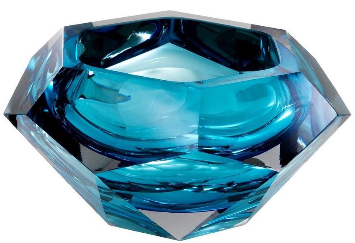 Blue 9 Glass Decorative Bowl