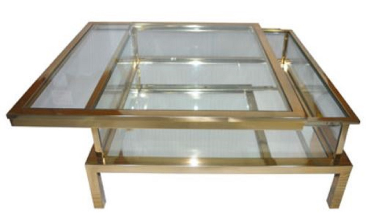 - Casa Padrino Luxury Stainless Steel Coffee Table Gold 100 X 100 X