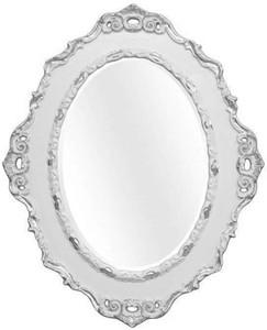 Casa Padrino Luxus Barock Wandspiegel Hellgrau / Silber 84 x 4 x H. 104 cm - Ovaler Antik Stil Spiegel - Edel & Prunkvoll