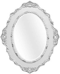 Casa Padrino Luxury Baroque Wall Mirror Light Gray / Silver 84 x 4 x H. 104 cm - Oval Antique Style Mirror - Precious & Magnificent