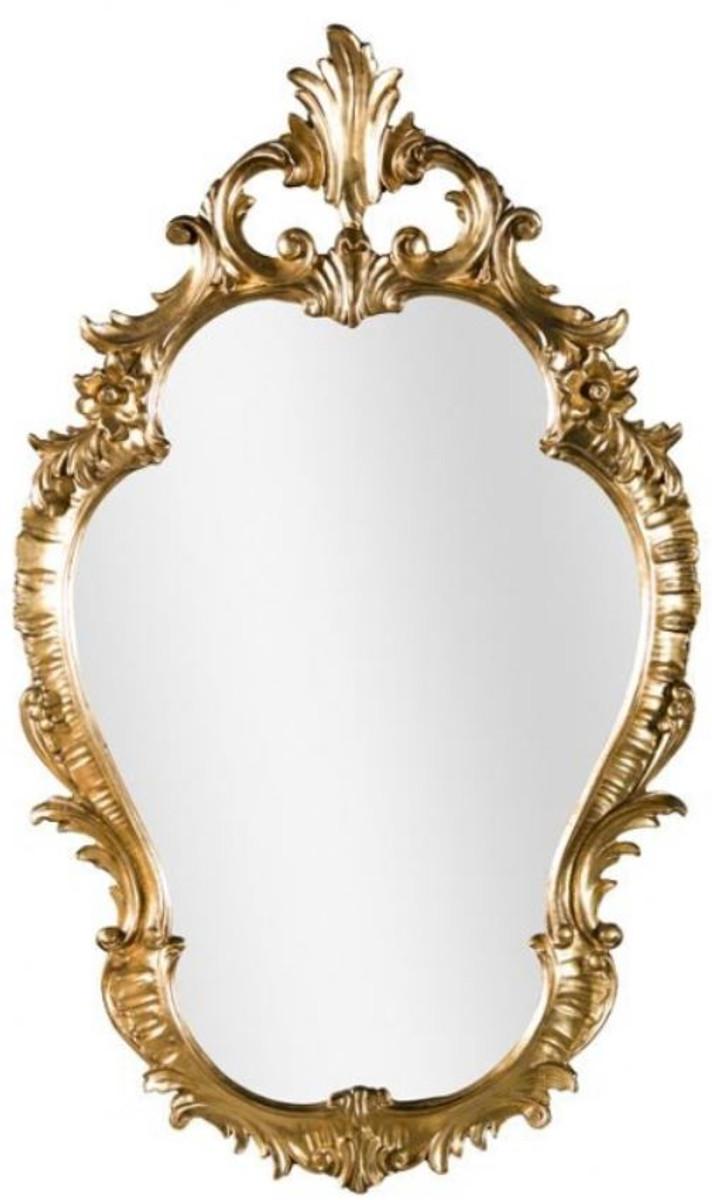 Casa Padrino Luxus Barock Wandspiegel Gold 58 x 4 x H. 98 cm - Prunkvoller Spiegel im Barockstil - Barock Möbel 1