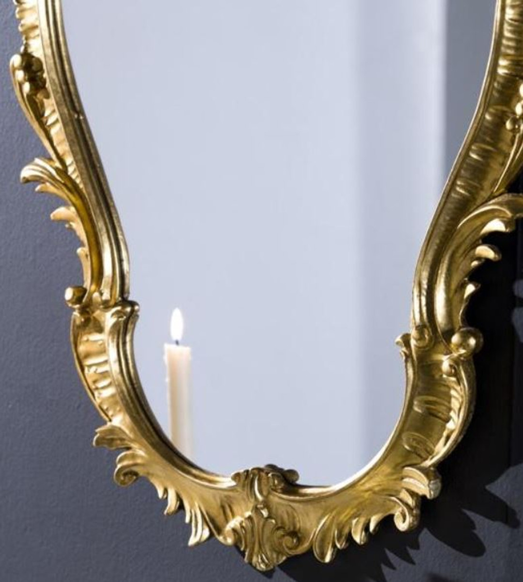 Casa Padrino Luxus Barock Wandspiegel Gold 58 x 4 x H. 98 cm - Prunkvoller Spiegel im Barockstil - Barock Möbel 2