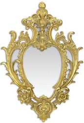 Casa Padrino Baroque Wall Mirror Gold 46.5 x H. 68.6 cm - Magnificent Baroque Style Mirror - Baroque Furniture