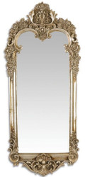 Casa Padrino Baroque Mirror Antique Silver 31.3 x H. 70.1 cm - Wardrobe Mirror - Living Room Mirror - Wall Mirror in Baroque Style