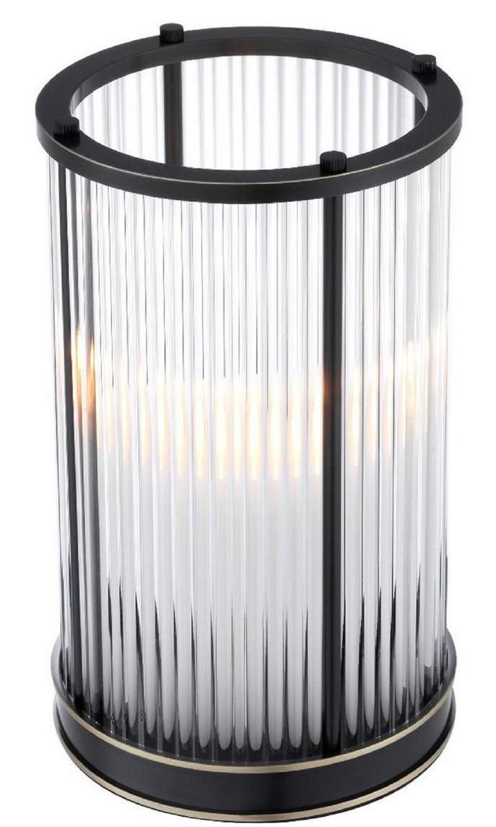Casa Padrino Luxus Kerzenleuchter Bronze / Messing Ø 16,5 x H. 27,5 cm - Deko Accessoires - Luxus Qualität 2