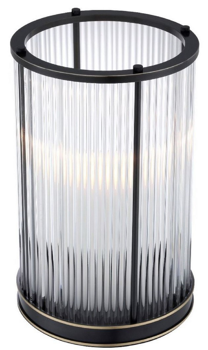 Casa Padrino Luxus Kerzenleuchter Bronze / Messing Ø 20 x H. 32 cm - Deko Accessoires - Luxus Qualität 2