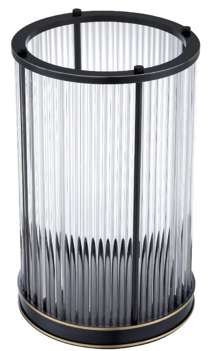 Casa Padrino Luxus Kerzenleuchter Bronze / Messing Ø 20 x H. 32 cm - Deko Accessoires - Luxus Qualität 3