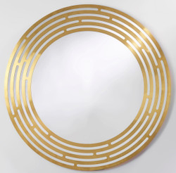 Casa Padrino luxury mirror brass Ø 100 cm - Round Wall Mirror with Metal Frame - Luxury Collection