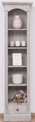 Casa Padrino country style shelf cabinet light gray 50 x 33 x H. 190 cm - Solid Wood Cabinet with 4 Shelves and Drawer - Country Style Furniture