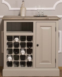 Casa Padrino country style wine cabinet with door beige / natural 90 x 41 x H. 90 cm - Country Style Furniture