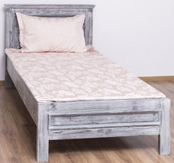 Casa Padrino country style solid wood bed antique gray 90 x 200 x H. 93 cm - Solid Wood Single Bed - Country Style Bedroom Furniture