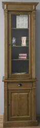 Casa Padrino Landhausstil Regalschrank Braun 73 x 51 x H. 240 cm - Massivholz Schrank mit 2 Türen und Schublade - Bücherschrank im Landhausstil